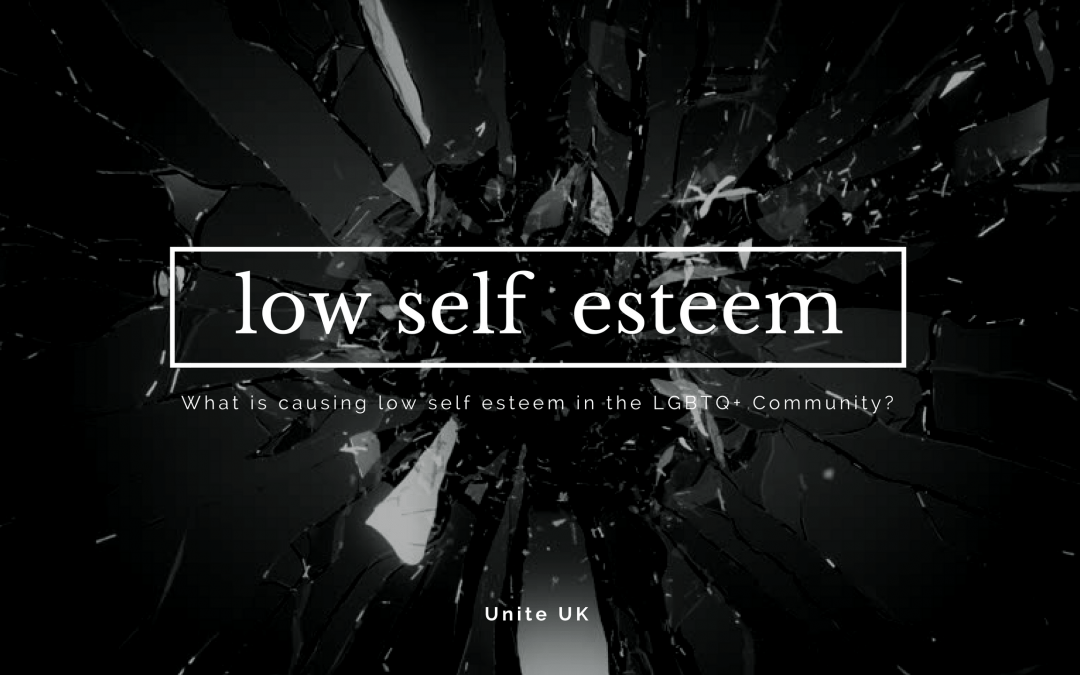 What is causing low self esteem in the LGBTQ+ Community