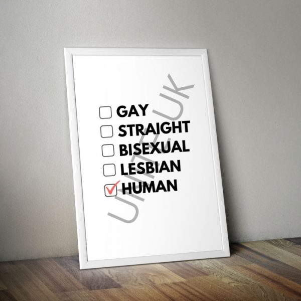 We are all equals poster